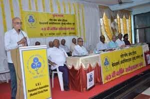 Shri.S.B.Gokhale, President,addressing the gathering on the occasion